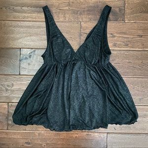 Shimmery Black Babydoll from Victoria Secret